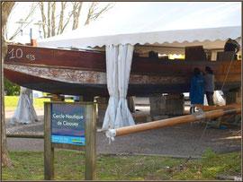 Restauration d'un bateau au Cercle Nautique de Claouey (Bassin d'Arcachon)