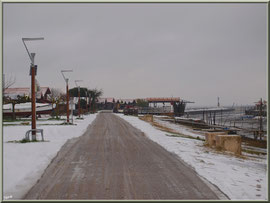 Route vers la Jetée du Christ en habit neigeux