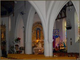 Décoration église Noël 2012
