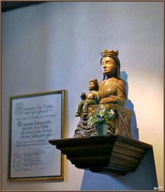 Aïnoha : l'église Notre Dame de l'Assomption, statue de la Vierge à l'enfant (Pays Basque français)