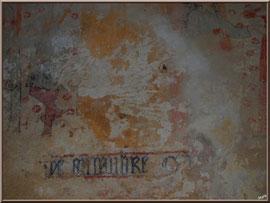 Eglise St Michel du Vieux Lugo à Lugos (Gironde) : fresque murale côté gauche de l'église