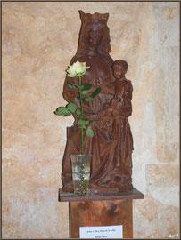 Eglise St Michel du Vieux Lugo à Lugos (Gironde) : la statue de Notre Dame de la Vallée
