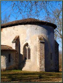 Eglise St Michel du Vieux Lugo à Lugos (Gironde) : façade Sud-Est