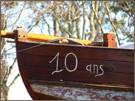 Proue de bateau (Claouey, Bassin d'Arcachon)