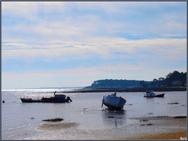 Fin d'après-midi au large de la plage de Claouey (Bassin d'Arcachon)