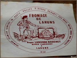 Première étiquette de la fromagerie artisanale Laborde-Bouchet, Fête au Fromage, Hera deu Hromatge, à Laruns en Vallée d'Ossau (64)
