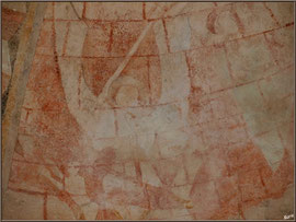 Eglise St Michel du Vieux Lugo à Lugos (Gironde) : fresque murale, St Michel Archange très certainement
