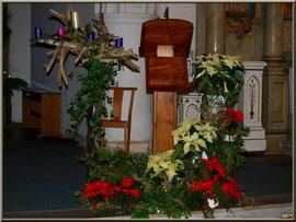 Le préchoir avec décoration de Noël 2011