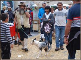 Le montreur d'oies avec son chien, Fête au Fromage, Hera deu Hromatge, à Laruns en Vallée d'Ossau (64)
