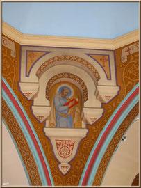L'église Notre-Dame des Passes au Moulleau à Arcachon, un des arceaux des voûtes