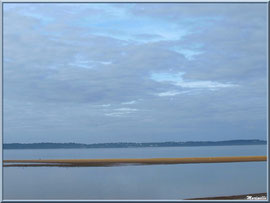 Le Bassin depuis la plage Péreire à Arcachon, Bassin d'Arcachon (33)