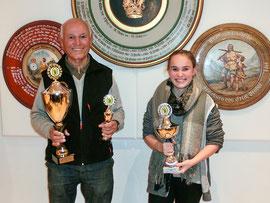 Pokalsieger 2015: LG-Auflageschützen Eckehard Paschky und Natalie Brönauer Jugendpokal