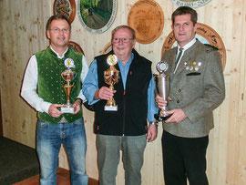 Pokalsieger 2015: LG Werner Grundei, LP-Auflageschützen Eckehard Wittig und LP Christian Wörl