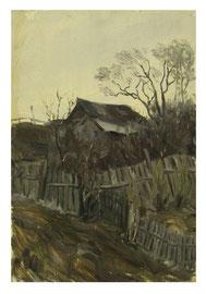 Village  /   Dorf    50x35cm  1983