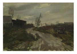Road after the rain  / Weg nach dem Regen   35x50cm  1983