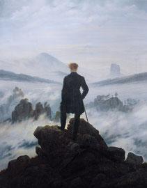 Caspar FRIEDRICH, Voyageur contemplant une mer de nuages (1818)