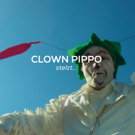 Clown Pippo -Stelzt