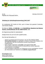 Einladung zur JHV 2017