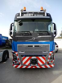 AEBY Transporte AG St. Ursen, Volvo FH16 8x4 mit Modulachse, Foto: Thomas Sommer
