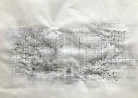 Sociogram: 9V36+PJ Amsterdam  Ink-, pencil-, acrylic, ballpoint drawing, on tracingpaper, pinned on foam. 29,7 cm x 42 cm Faisel Saro 2021.