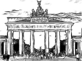 Brandenburger Tor Kohlezeichnung
