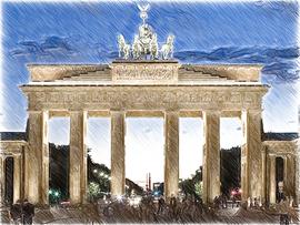 Brandenburger Tor artistisch