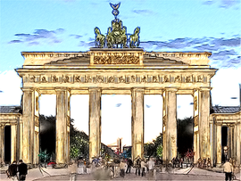 Brandenburger Tor Buntstift