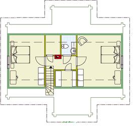 Kuusamo Holzhaus in Blockbauweise - OG