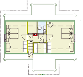 Kuusamo Holzhaus in Blockbauweise - OG - Entwurfsplanung - Typenhaus - Bauideen