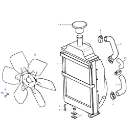 El radiador y sus componentes.