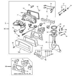 Tablero para instrumentos y sus componentes
