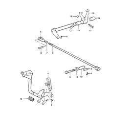 Pedal de embrague y sus componentes