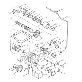 Caja de transferencia y sus componentes.