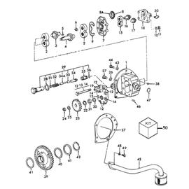 Bomba hidráulica para Ford 5000/6600 y sus componentes