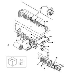 Bomba hidráulica Tandem y sus componentes.