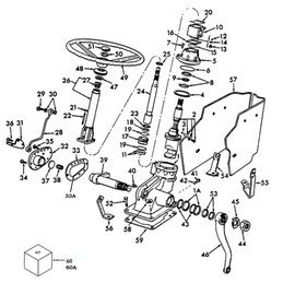 Mecanismo de dirección asistida y sus componentes.