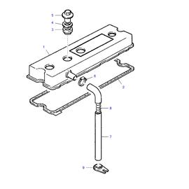 Tapa de punterías y sus componentes.