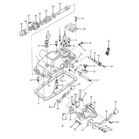 Tapa del hidráulico y sus componentes
