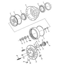 Maza eje delantero doble tracción y sus componentes.