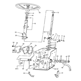 Sistema de dirección mecánica y sus componentes.