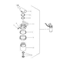 Bomba eléctrica para elevación de combustible y sus componentes.