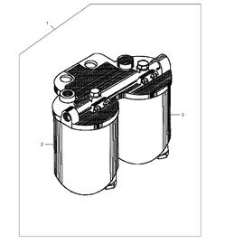 Ensamble para filtros de combustible y sus componentes.