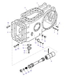 Caja central y sus componentes.