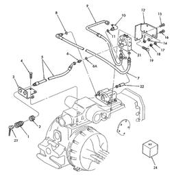 Válvula de control remoto sencilla y sus componentes
