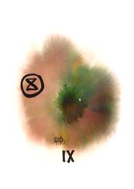 deconstructive tarot | IX the hermit | 21 x 29,5 cm | aquarell and ink on paper | 2017 | (c) Lilian Wieser