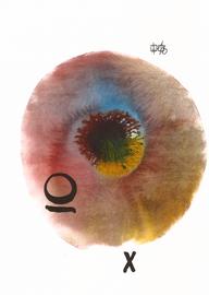 deconstructive tarot | X the wheel of fotrune | 21 x 29,5 cm | aquarell and ink on paper | 2017 | (c) Lilian Wieser