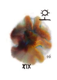 deconstructive tarot | XIX the sun | 21 x 29,5 cm | aquarell and ink on paper | 2017 | (c) Lilian Wieser