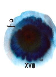 deconstructive tarot | XVIII the moon | 21 x 29,5 cm | aquarell and ink on paper | 2017 | (c) Lilian Wieser