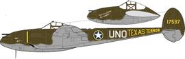 P-38F del Lt. Jack Ilfrey del 94° FS, 1° FG .