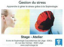 Gérer son stress avec l'école de Sophrologie de Liège
